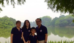 Joshua, Linh and Two Children