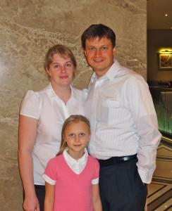 Vitaliy, Anna and Veronica Sorokun